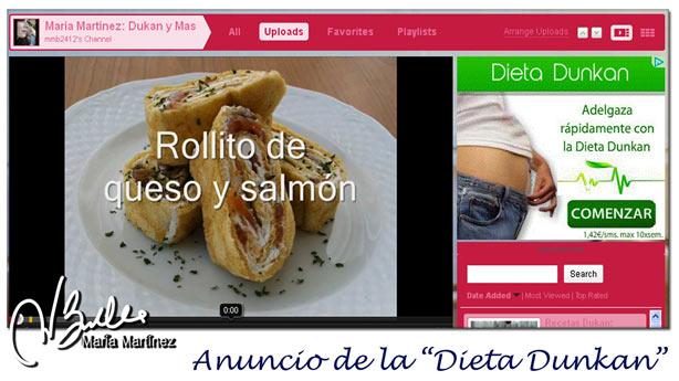 """Anuncios de la """"Dieta Dunkan"""", con N"""