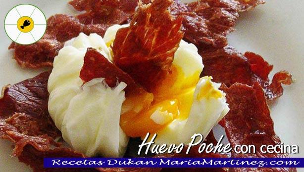 Huevos Poché con Cecina, dieta Dukan