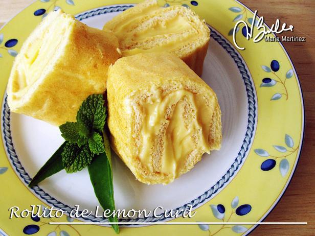 Rollito de Lemon Curd Dukan