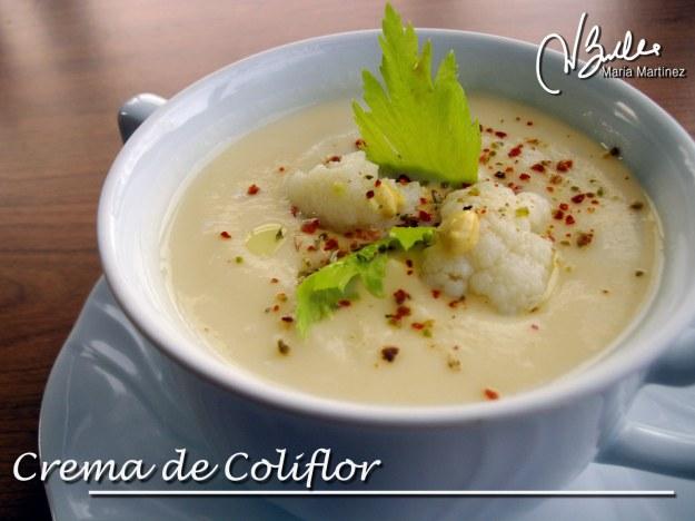 Recetas Dukan: Crema de Coliflor