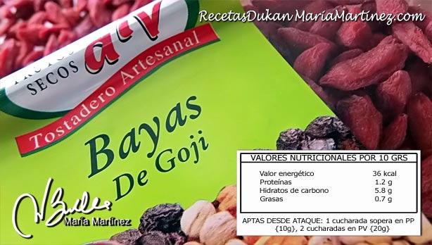 Alimentos ricos en magnesio: Bayas de Goji Dukan