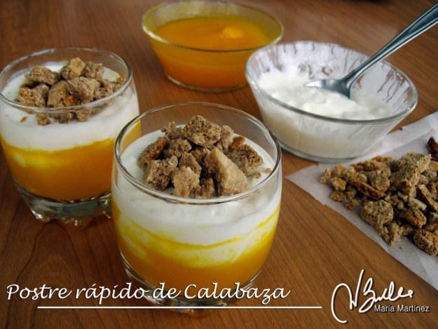 Recetas Dukan: Vasitos de calabaza y yogur
