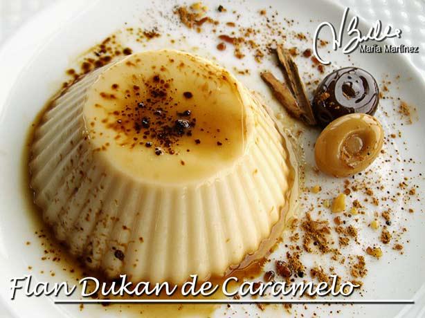 Flan Dukan de Caramelo, Recetas Maria Martinez