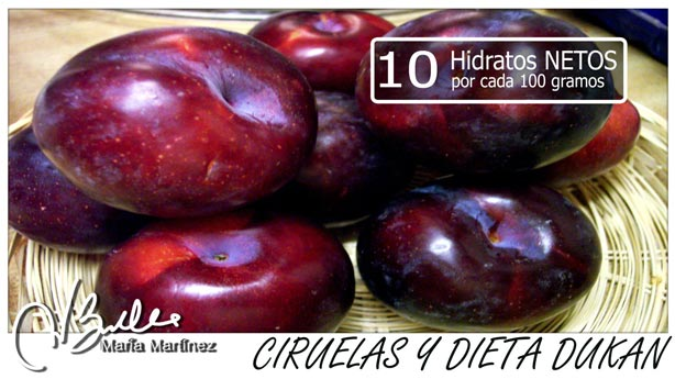 Fruta y dieta Dukan: Helado de Ciruelas Rojas,  para la nueva dieta Dukan (Escalera Dukan)