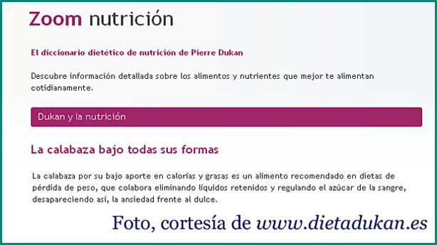 Calabaza y dieta Dukan