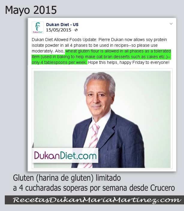 Gluten y dieta Dukan, ¿la harina de gluten es un ingrediente permitido, tolerado, prohibido?