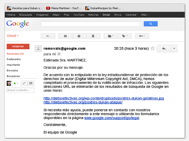 Google responde: es plagio