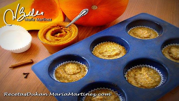 Magdalenas Dukan: Muffins de Salvado y Calabaza