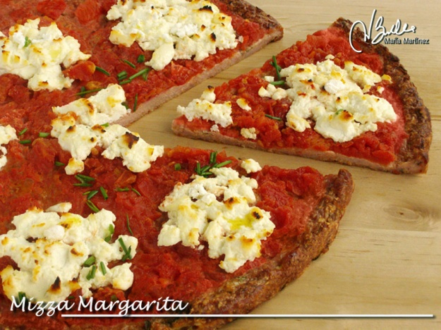Mizza Margarita: Pizza Dukan con base de carne