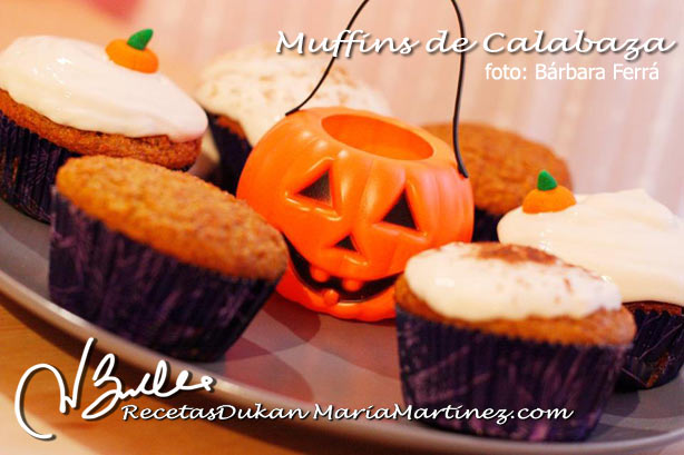 Muffins Dukan (Magdalenas) de Calabaza