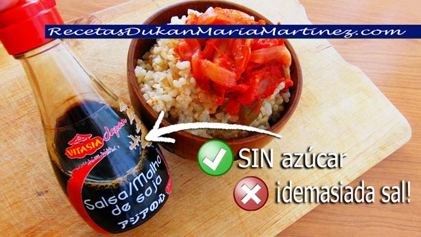 Salsa de Soja Vitasia LIDL, apta Dukan para fase Ataque, sin Tolerados