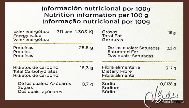 Valores Nutricionales del Cacao Puro