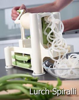 """Lurch-Spiralli: """"pasta"""" de verduras"""