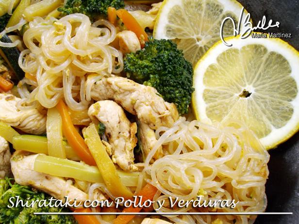 Shirataki Dukan con Pollo y Verduras