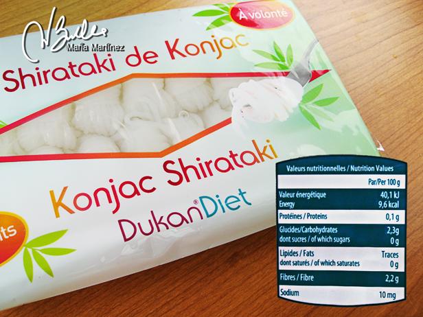 Shirataki Dukan fideos Konjac: recetas de shiratakis