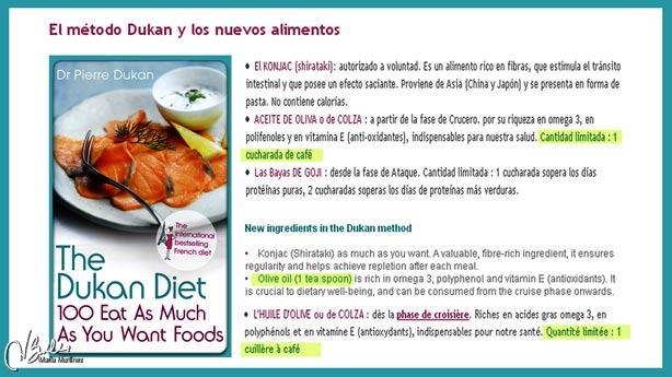 Dieta Dukan Cantidad de Aceite permitida