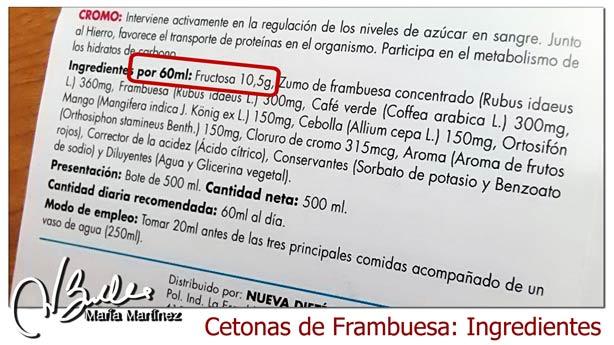 Cetonas de Frambuesa y dieta Dukan