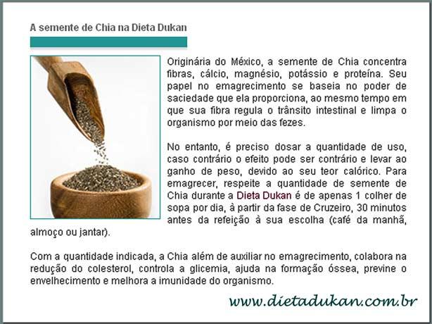 Semillas de Chia Dieta Dukan