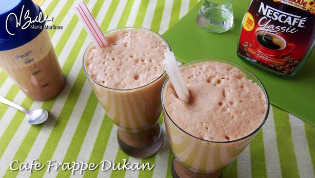 Café Frappe Bebidas Dukan fase Ataque
