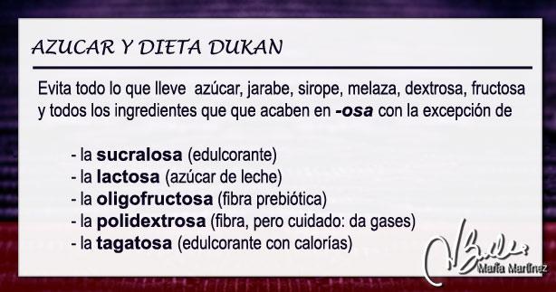 Oligofructosa y dieta Dukan:  ¿oligofructosa es lo mismo que fructosa?