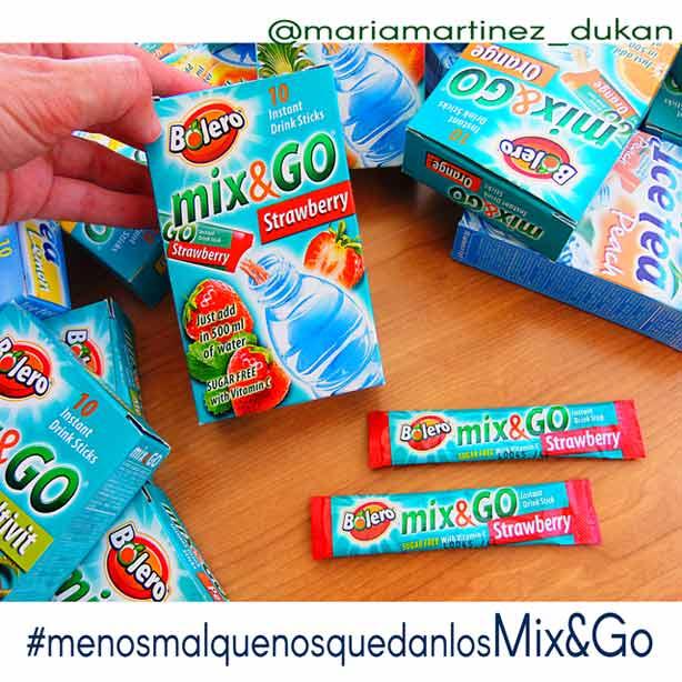 Bebidas Bolero Mix and Go: jugos en polvo sin azúcar, aptos para la dieta Dukan desde el primer día de la dieta