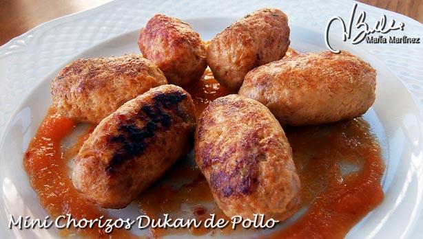 Chorizos Dukan de Pollo: Emplatado