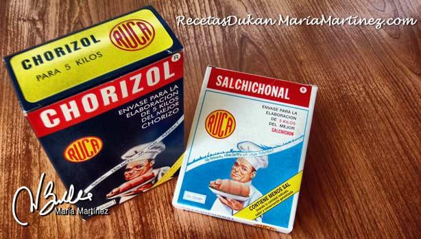 Chorizo Dukan, condimentos: Chorizol y Salchichonal