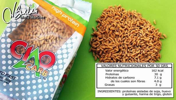 Proto Pasta Ciao Carb: arroz y pasta aptos dieta Dukan