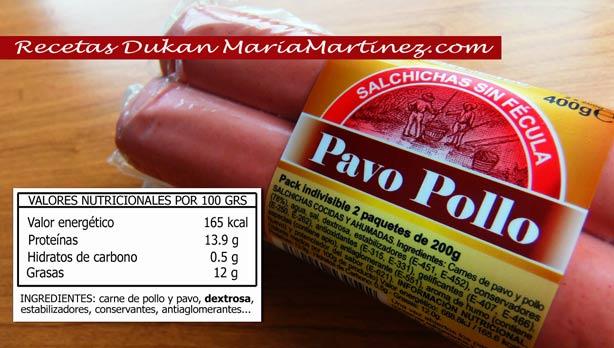 Salchichas Dukan de Pollo y Pavo en Mercadona