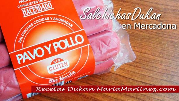 Salchichas Dukan de Pollo en Mercadona
