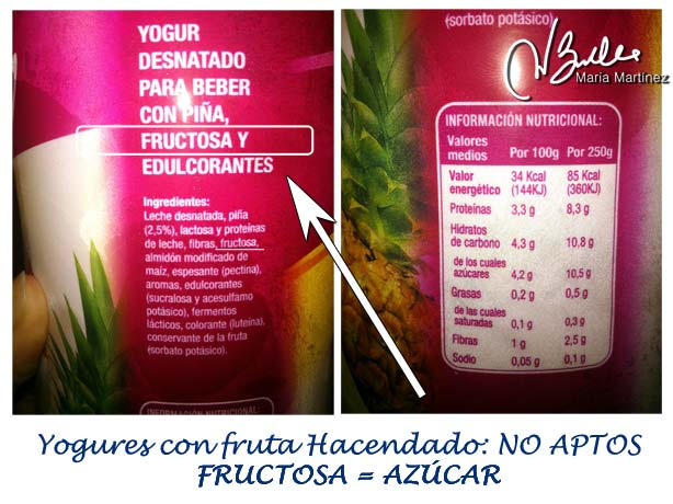 Yogur Mercadona 0% con fruta: ya no son Dukan