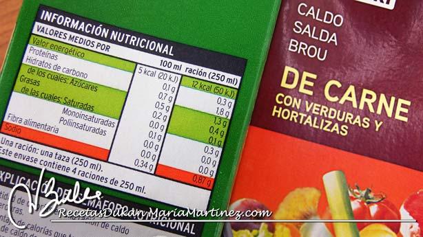 Caldo desgrasado Dukan: valores nutricionales
