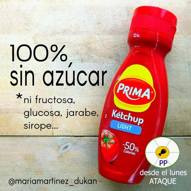 Condimentos permitidos para la dieta Dukan desde Ataque: ketchup sin azúcar en la LISTA de ingredientes