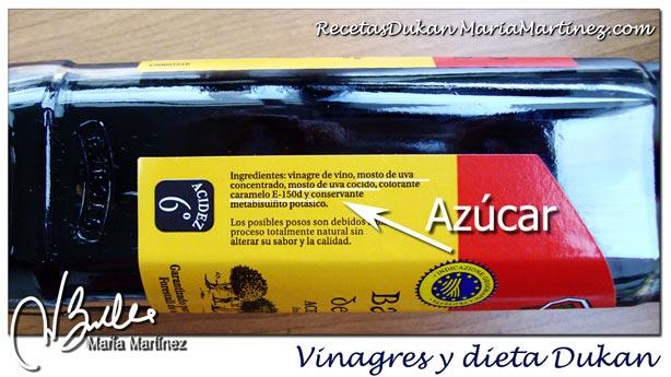 Vinagre de módena y dieta Dukan: condimentos permitidos desde fase Ataque