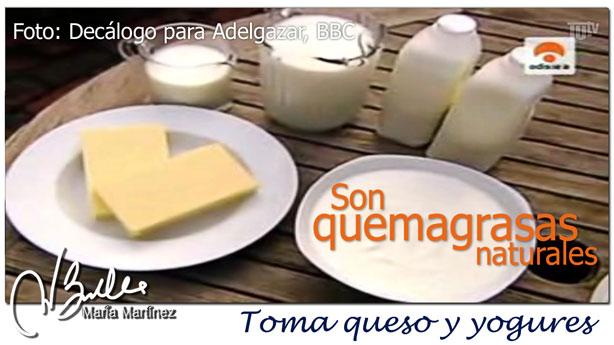 Decalogo para Adelgazar:  Queso y yogures son quemagrasas naturales