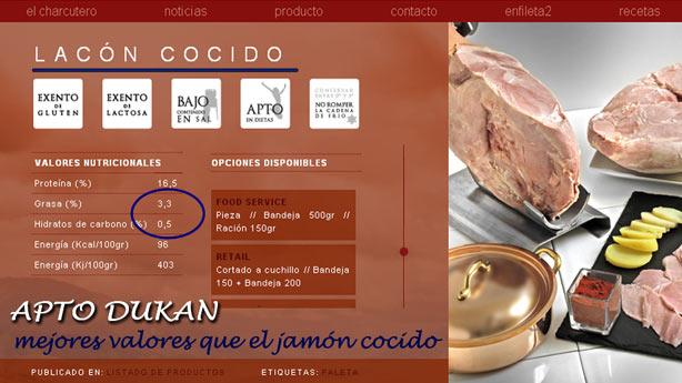 Lacón cocido: apto para Dukan desde Ataque
