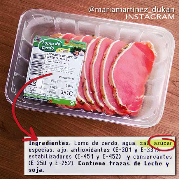 Lomo de Cerdo NO apto Dukan (lleva azúcar)