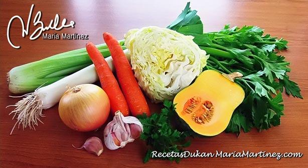 Sopa Quema Grasa Dukan: Ingredientes