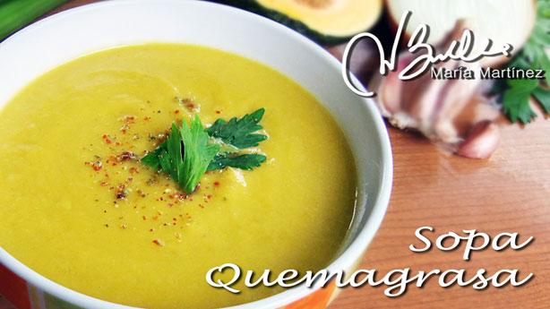 ingredientes para sopa quema grasa