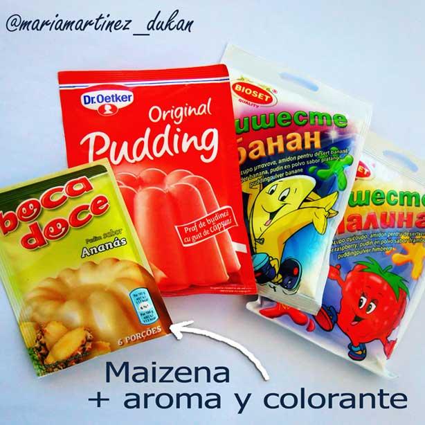Pudding Dukan: preparados para pudding sin azúcar, permitidos desde Crucero (contando tolerados)