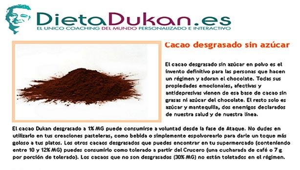 Tolerados Dukan: Cacao Puro