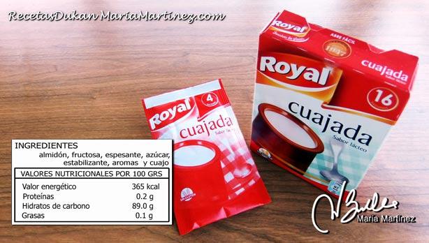Tolerados Dukan: Cuajada Royal / Danone