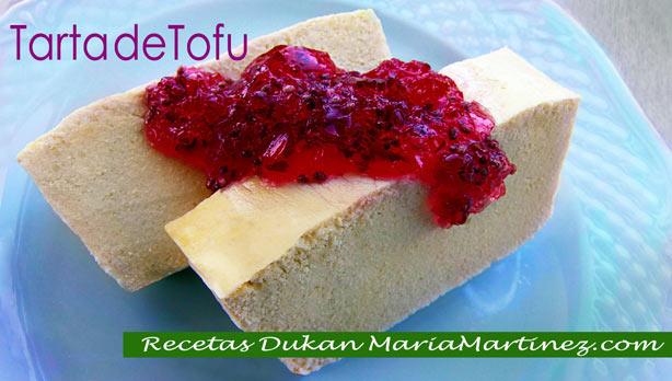 Recetas Dukan con Tofu: Tarta de Tofu Dukan