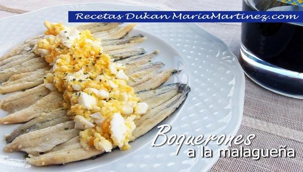 Boquerones Dukan en Vinagre a la malagueña (receta rápida)