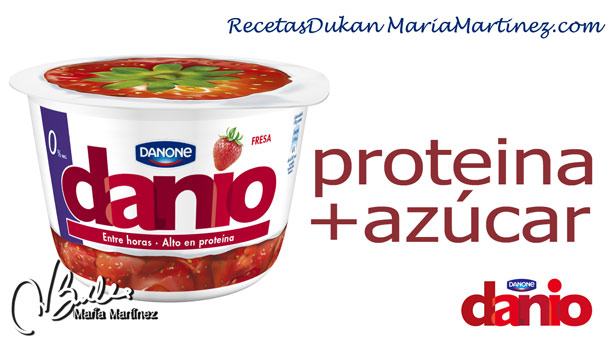 Danio de Danone y Dieta Dukan: NO apto (proteína + azúcar)