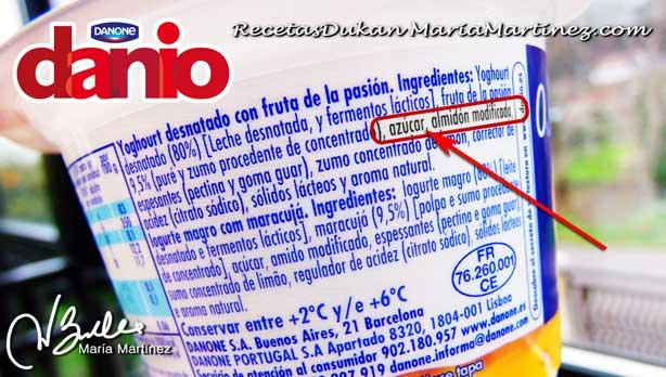 Danio de Danone y Dieta Dukan: NO apto