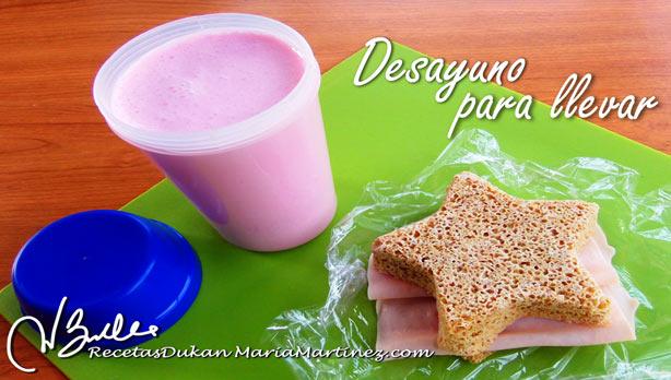 Desayuno Dukan PP: Batido de Proteínas, para llevar