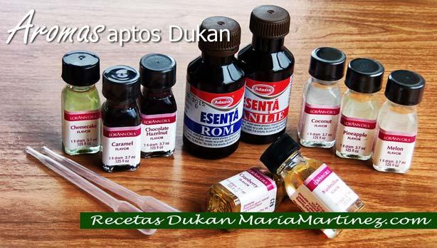 Aromas Dieta Dukan: dónde comprar aromas