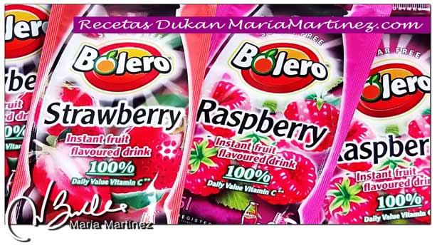 Jugos Bolero sin azúcar Recetas, Bebidas Bolero