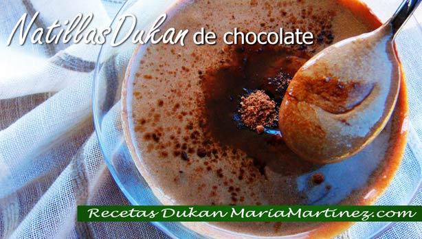 Natillas Dukan de chocolate (sin huevo ni maizena)
